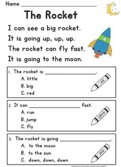 Free reading passages designed to help kids develop comprehension skills early in the process of learning to read.