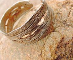 Primitive Organic Sterling Silver Unisex Adjustable Saguaro Cactus Skeleton Cuff Bracelet