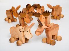 Wooden Toy / Masseur Elk by jaukudesign on Etsy