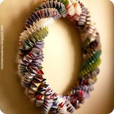 Paper Chain Wreath Tutorial, I make these all the time just as busy work for my fingers so it is great to have something to do with them in the end.