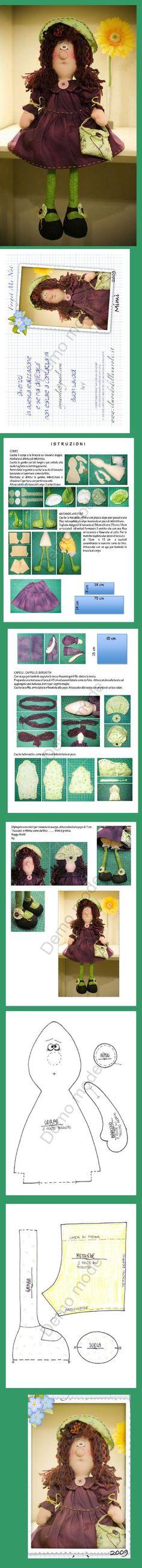 cloth doll pattern & tutorial