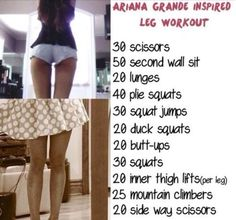 ariana grande thigh gap workout - Google Search