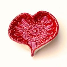 heart-shaped poppy - candle holder