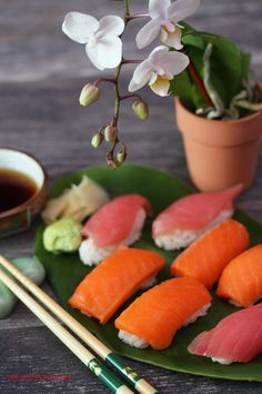Homemade Salmon and Tuna Sushi for Dinner by theresahelmer on DeviantArt