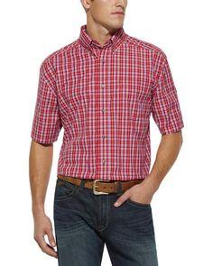 Ariat Van Plaid Red Shirt - Big & Tall
