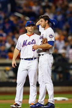 David Wright, Steven Matz, NYM//Game 4 NLDS v LAD, Oct 13, 2015
