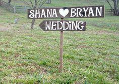 Arrow Wedding Signs Rustic Wedding Signs by CountryWeddingSigns, $45.00