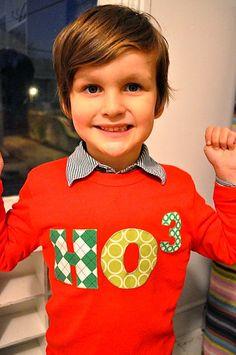 Christmas Shirt Santa Ugly Christmas Sweater HO by charlieandsarah, $25.00