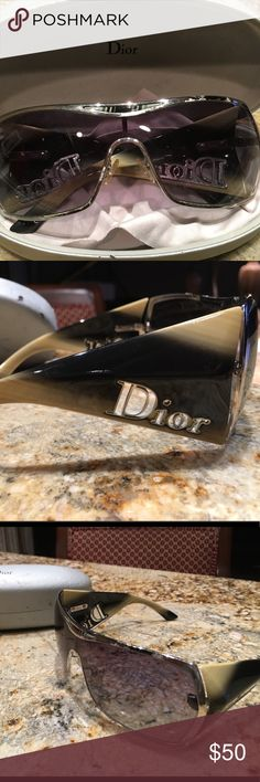 Dior Sunglasses Dior shield sunglasses - Silver flaked slightly on one side as they are used. 100% authentic Christian Dior Accessories Sunglasses