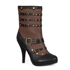 Two-tone Steampunk Boots @ SinisterSoles.com