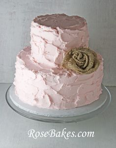 Rustic Pink Buttercream (Cute I like this too, but not really a fan of buttercream)