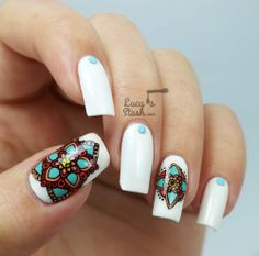Colourful Stamping Decals Nail Art feat. MoYou London - Lucys Stash