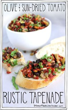 Olive & Sun-Dried Tomato Rustic Tapenade! Hello perfect party appetizer. Make ahead, colourful, and gorgeous.