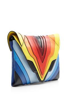 Pochette Fatale Rainbow Flag Large Clutch by Elena Ghisellini for Preorder on Moda Operandi