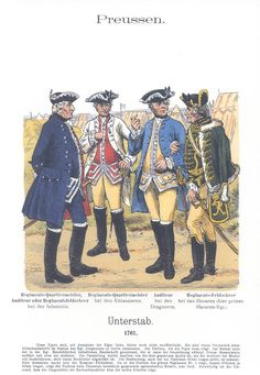 Band XVII #46.- Preußen. Unterstab. Regiments-Quartiermeister, Auditeur, Regiments-Feldscheer. 1761.