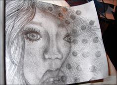 "W.I.P ""Doted lace in her face"" By Sandra Rosén Dahlgren Art ♥ Lifestyle ♥ Blog https://www.facebook.com/sandrarddesign"