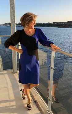 TR Dress with Waves! 🌊 Shingo Sato, Colorblock Dress, Color Blocking, Cotton Fabric, Waves, Passion, Sewing, Sleeves, Projects