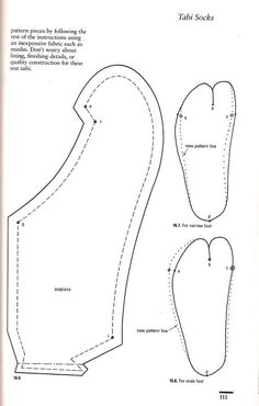 Nikki Streets uploaded this image to 'Tabi Sock pattern'. See the album on Photobucket. Barbie Patterns, Doll Clothes Patterns, Clothing Patterns, Sewing Patterns, Kimono Pattern, Shoe Pattern, Barbie Clothes, Diy Clothes, Sewing Hacks