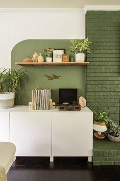 Modern Color Block Wall Estilo Color Block, Colour Blocking Interior, Color Blocking, Küchen Design, House Design, Wall Color Combination, Sweet Home, Colorful Interior Design, Block Wall