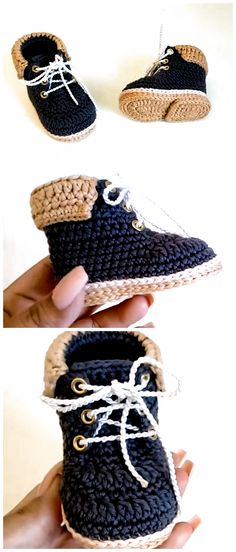 Crochet Baby Boots, Crochet Baby Clothes, Newborn Crochet, Crochet Shoes, Knit Crochet, Baby Boy Knitting Patterns, Crochet Patterns, Crochet Ideas, Baby Slippers