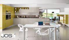 Cucina - bianca e gialla