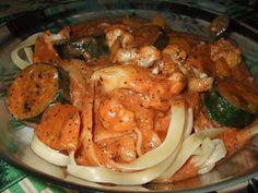 Dans les casseroles de GG: Sauce rosée aux légumes grillés