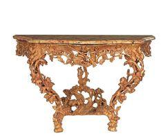 Console à décor de scènes de chasse. France, époque Louis XV.PhotoKohn