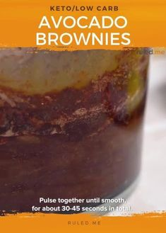 These keto avocado brownies are such a creamy and decadent dessert, made with avocados these are so creamy and gooey! #ketodesserts #ketobrownies #brownies Avocado Brownies, Keto Brownies, Keto Desserts, Keto Recipes, Dessert Recipes, Keto Friendly Chocolate, Keto Avocado, Low Carb Flour, Carbs Protein