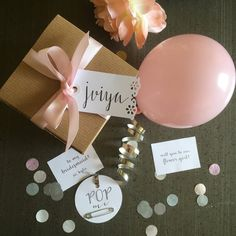 Will You Be My Flower Girl Balloon Message by saturdayiminlove                                                                                                                                                      More