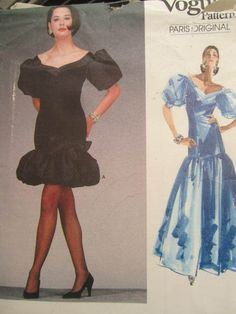 See Sally Sew-Patterns For Less - Afternoon Evening Givenchy Dress Paris Original Vogue 1993 Pattern Sz. 14, $19.00 (http://stores.seesallysew.com/afternoon-evening-givenchy-dress-paris-original-vogue-1993-pattern-sz-14/)
