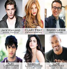Shadowhunters cast - Jace • Clary • Simon • Alec • Isabelle • Luke