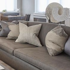 Cushion and styling details in the living room
