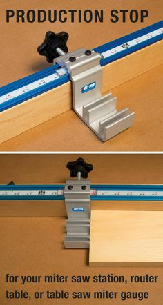 Create a production-ready stop for your miter saw station, router table, or table saw miter gauge with this heavy-duty stop. It features dual cursors and durable construction that give it accuracy and toughness in one easy-to-use stop.