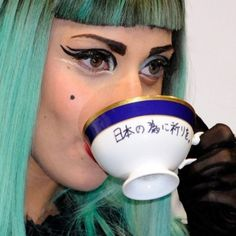 "Ani & Will on Instagram: ""Lady Gaga having a cuppa before performing live in a concert. :) #tea #teaculture #lovetea #ladygaga"""
