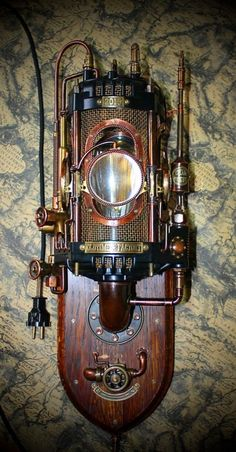 Steampunk telenumeral machine.  A telegraph autotranslator.
