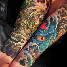 "2,583 Likes, 15 Comments - Japanese Ink (@japanese.ink) on Instagram: ""Japanese tattoo sleeves by @chriscrookswhitedragon. #japaneseink #japanesetattoo #irezumi #tebori…"""