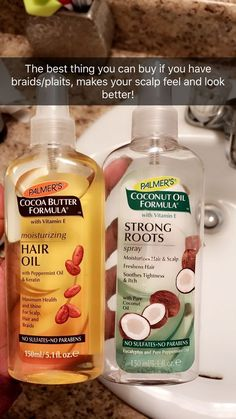 Palmer's Moisturizing Hair Oil adds a glowing, glossy look to your locks. This luxurious hair care product adds shine, smooths frizz and nourishes your scalp with peppermint oil, cocoa butter and keratin. Natural Hair Care Tips, Natural Hair Styles, Natural Hair Products, Long Hair Tips, Black Hair Care Products, Good Hair Products, Hair Growth Products, Natural Hair Regimen, How To Grow Natural Hair