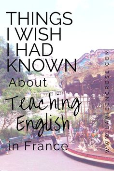 I frequently receive questions about teaching English in France. I try to answer honestly but recognize that what was true for me may not be true for everyone. I came to France with wildly unrealis…