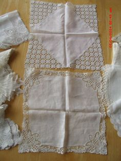 Vintage Antique Hankie Lot Brussels Lace Bobbin Lace Tatted Wedding Bridal | eBay