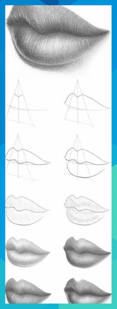 Need some drawing inspiration? Well you've come to the right place! Here's a list of over 20 amazing lip drawing ideas and inspiration. Why not check out this Art Drawing Set Artist Sketch Kit, perfect for practising your art skills. Eyebrows Sketch, Lips Sketch, Easy Drawings, Pencil Drawings, Space Drawings, Sketches Tutorial, Eye Art, Pose Reference, Zbrush