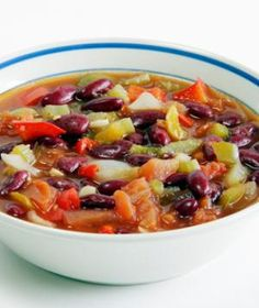Red Bean Vegetable Soup with whatever veggies you have in the fridge