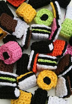 Crocheted liquerish all sorts