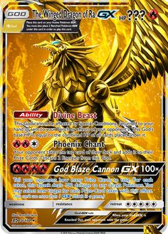 The Winged Dragon of Ra GX (Pokemon Yu-Gi-Oh! God Card Crossover) Custom Pokemon Card - Pokemon about you searching for.