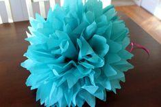 How to make tissue paper pom poms - easy!