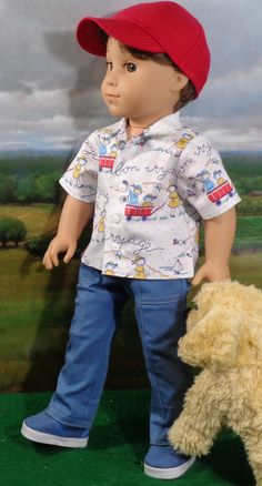 Boy Doll Clothes, Boy Clothing, Doll Clothes Patterns, Doll Patterns, Clothing Patterns, American Boy Doll, American Doll Clothes, Ag Dolls, Girl Dolls