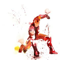 Iron Man Watercolor Art Print