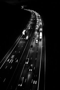 NIGHT TIME ON THE FREEWAY