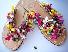 Handmade sandals / Feast of colors!