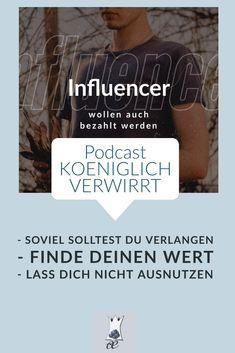 In dieser Podcast-Episode spreche ich darüber, wieviel du verlangen solltest, was du dir wert sein darfst, und wo die Grenze zur Ausnutzung liegt. Influencer Marketing, Connect, German, Success, Cards Against Humanity, Confused, Blogging, Money, Deutsch