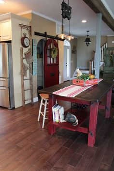 Fern Avenue: round top barn door... love the sliding pantry door!!!